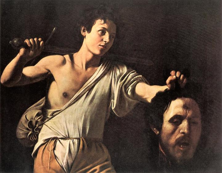 David with the Head of Goliath Caravaggio