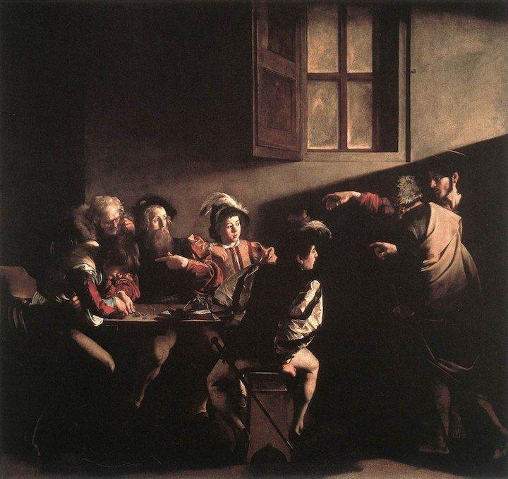 The Calling of Saint Matthew Caravaggio