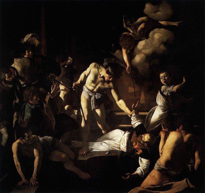 The Martyrdom of St Matthew Caravaggio
