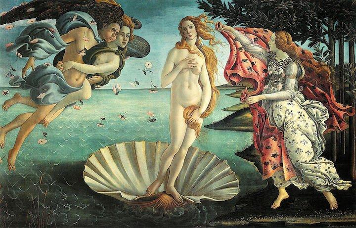 Venüsün doğuşu Botticelli