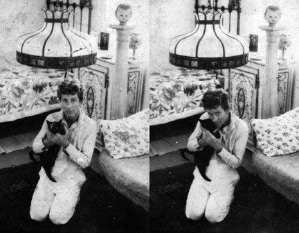 william faulkner ve kedisi