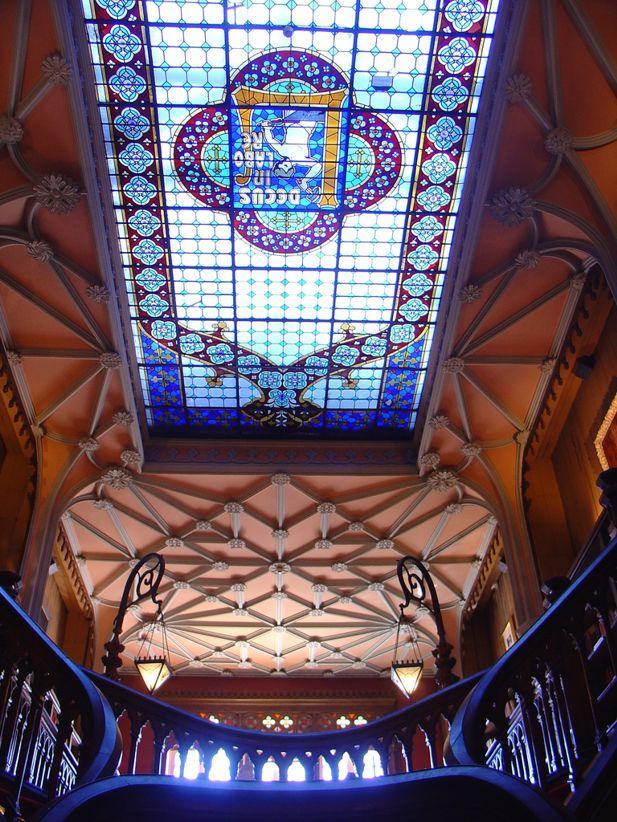 lello bookstore ceiling