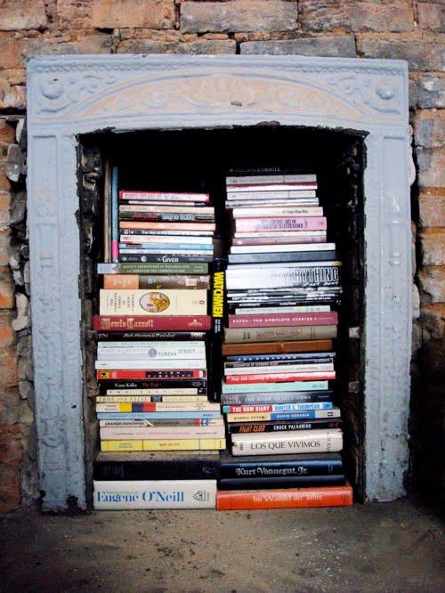 fireplace+shelf