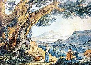 "Goethe ""Travellers in a Landscape"""