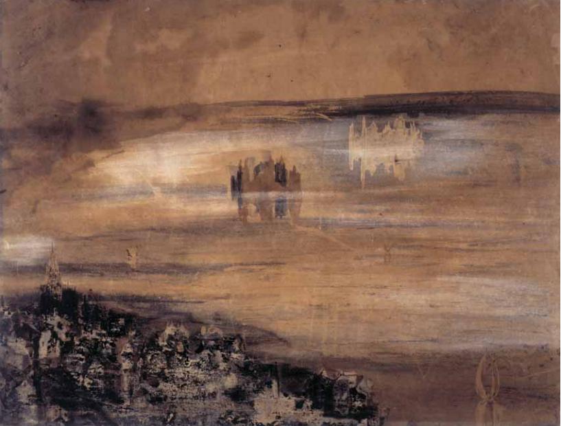 "Victor Hugo ""Town beside a lake"""