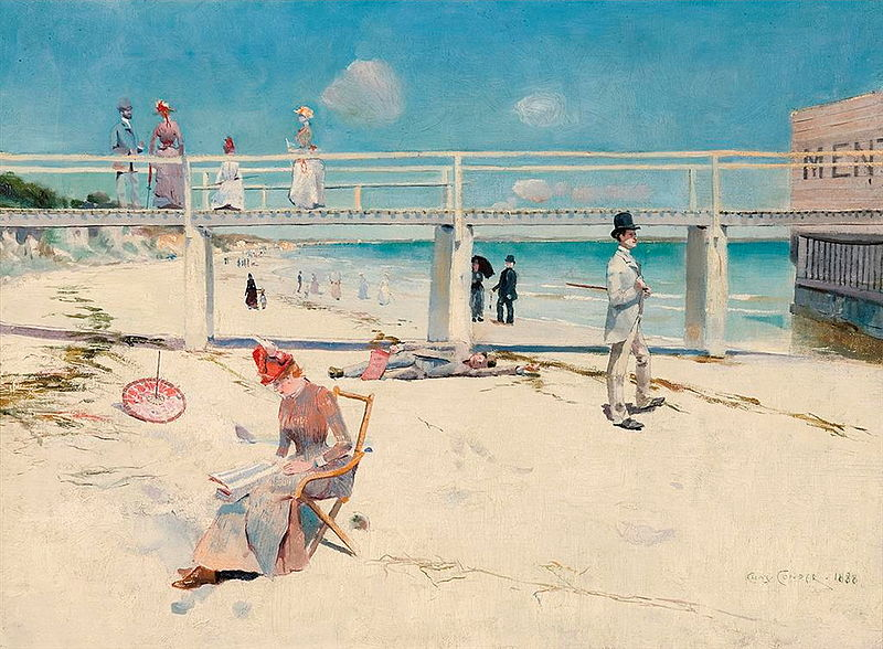 A holiday at Mentone - Charles Conder