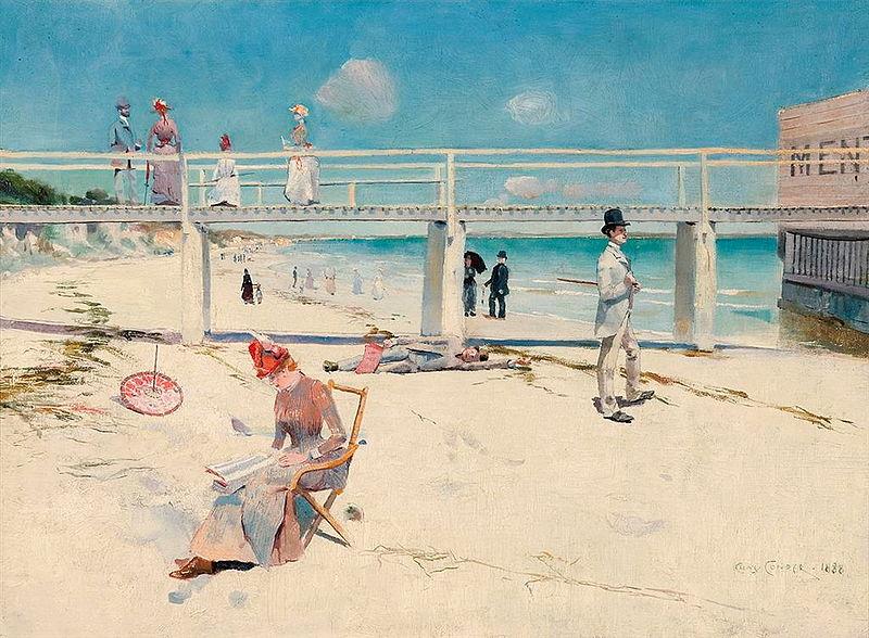 A holiday at Mentone - Charles Conder