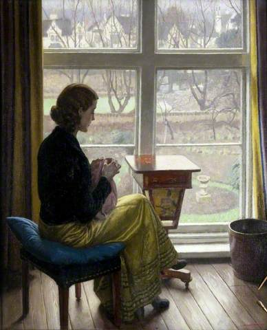 Harold Knight - A Window in St John's Wood