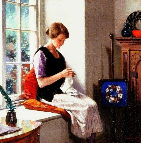 Harold Knight - The Seamstress