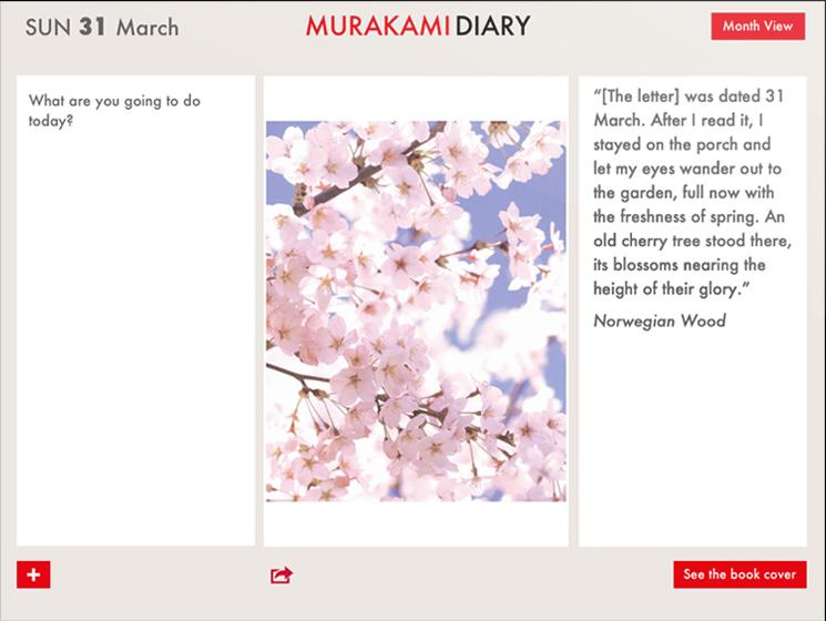 murakami diary uygulaması