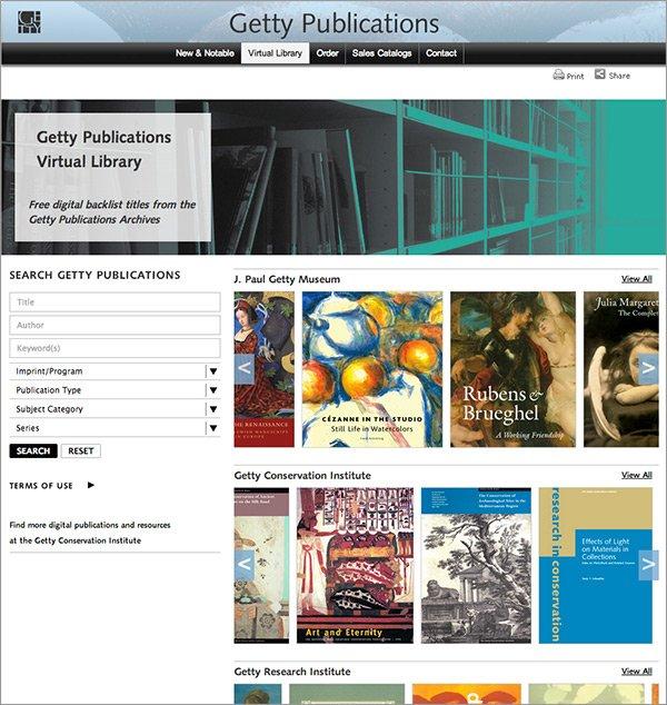 Getty'den Bedava Sanat Kitabı