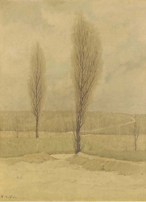 Landscape with poplars Fukui Ryonosuke