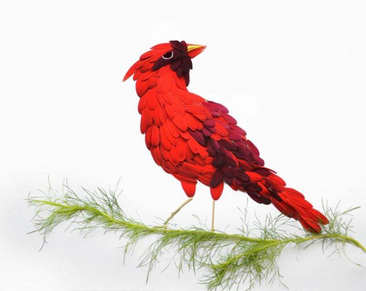 Hong Yi - Çiçeklerden Yapılan Kuşlar