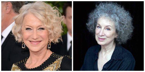 filmlerde yazarlar Helen Mirren ve Margaret Atwood