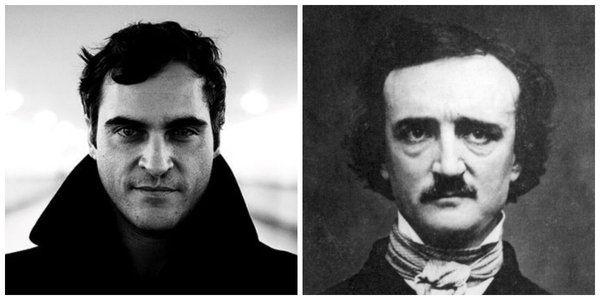 filmlerde yazarlar  Joaquin Phoenix ve Edgar Allan Poe