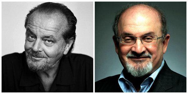 filmlerde yazarlar Jack Nicholson ve Salman Rushdie