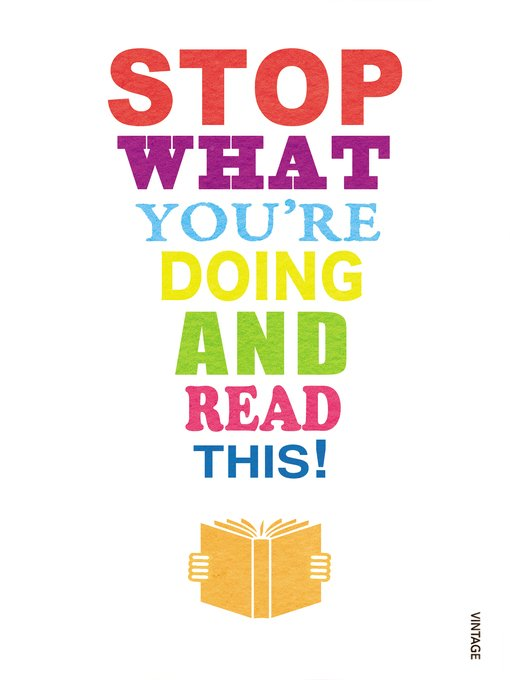 Stop What You're Doing and Read This! - Harika Bir Kitap
