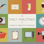 Sanatçı ve Yazarların Günlük Rutinleri (infografik)