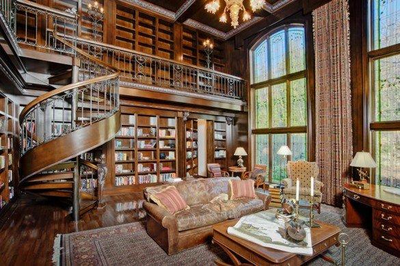 klasik ev kütüphanesi
