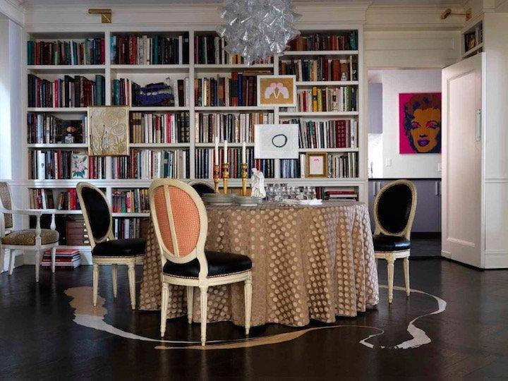 Yemek Odasında Kitaplıklar