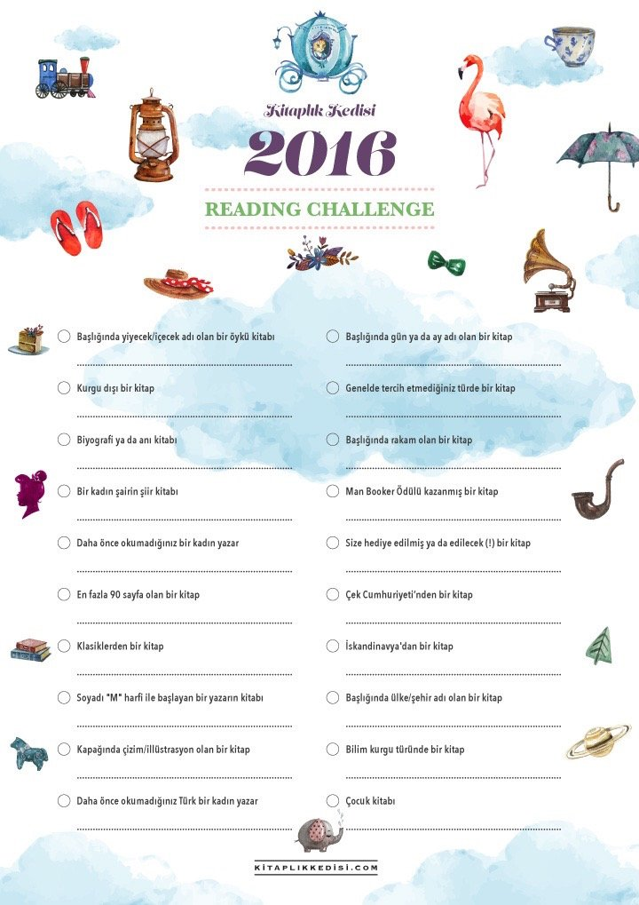 Kitaplık Kedisi reading challenge 2016