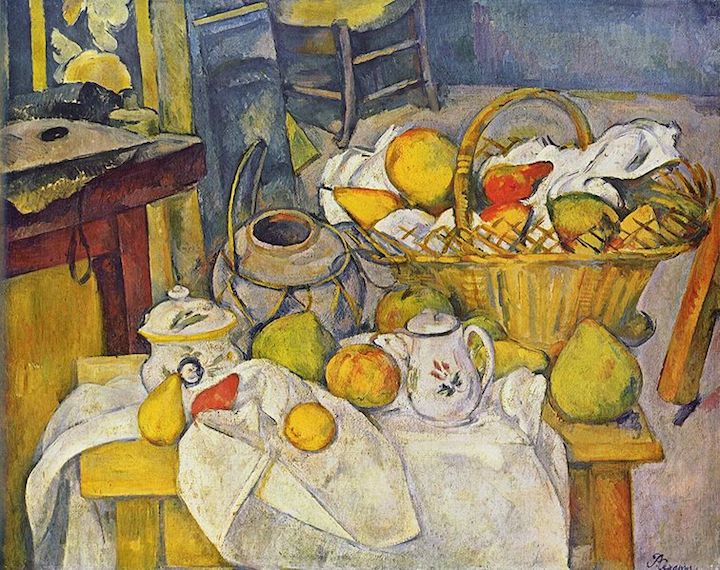 kitchen table still life with basket 1888 1890