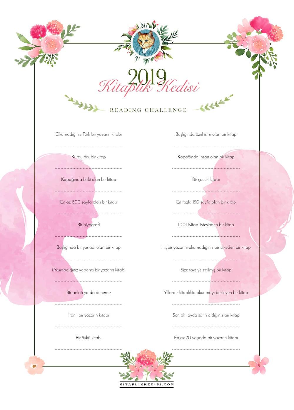 kitaplik kedisi reading challenge 2019 1