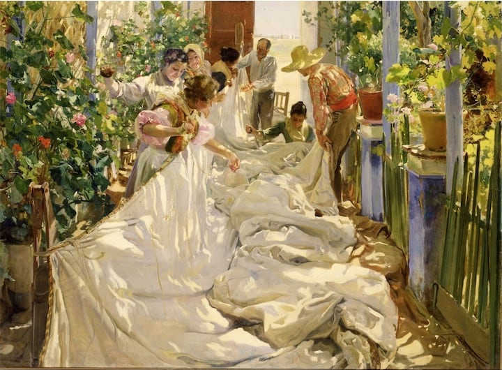 Sewing the Sail, Joaquín Sorolla - 1896 - 1896