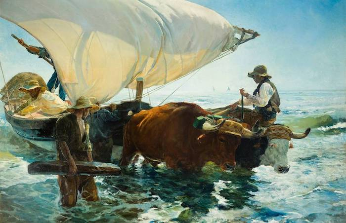 The Return from Fishing - Joaquin Sorolla