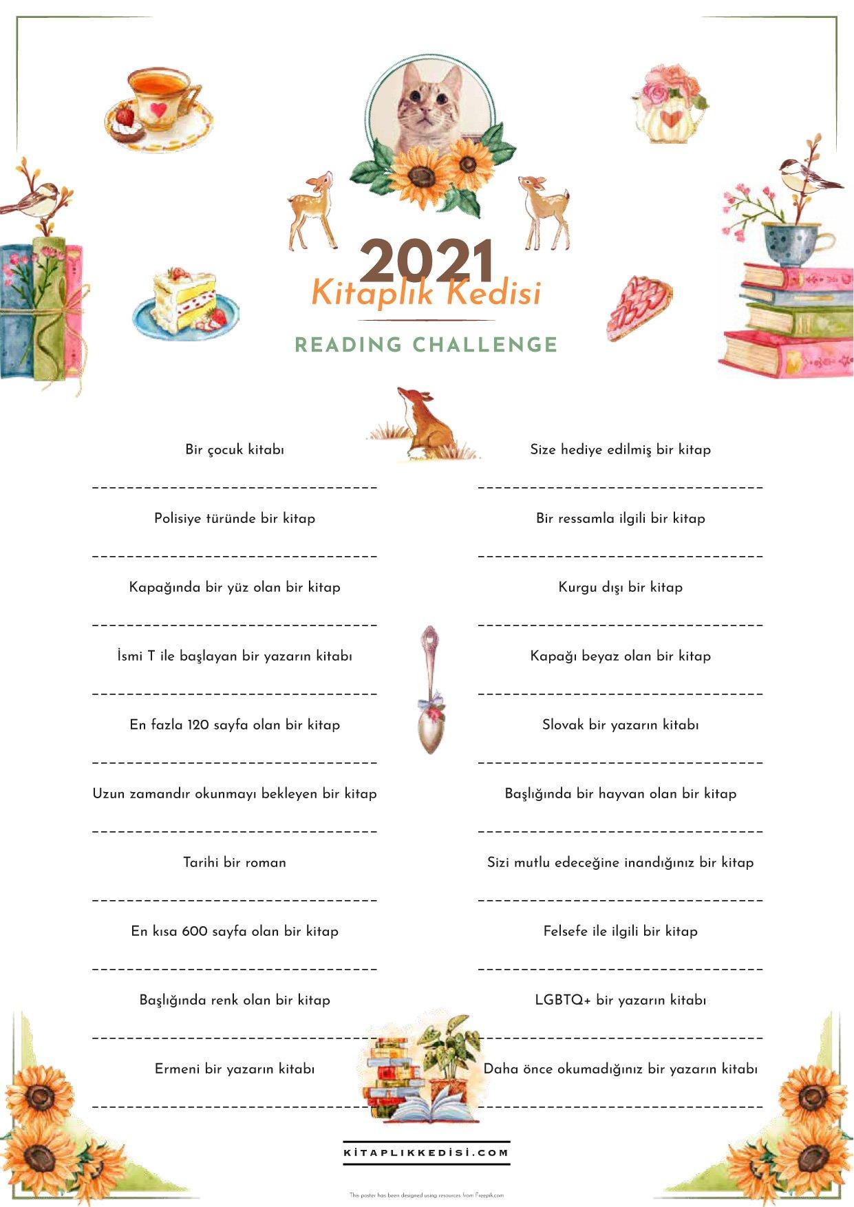 Kitaplık Kedisi Reading Challenge 2021!